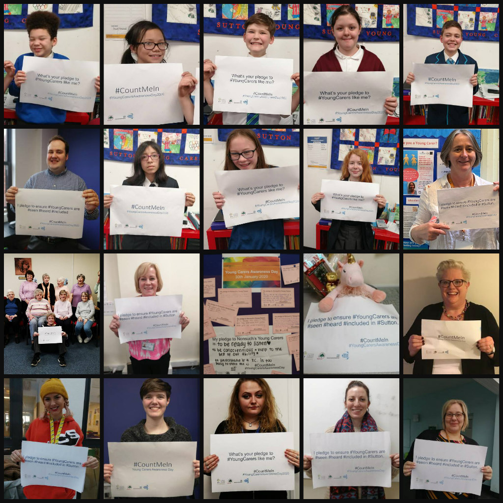 Young Carers collage