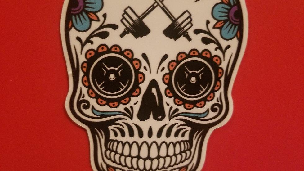 """Skull Sticker (4.25"""" x 2.75"""")"""