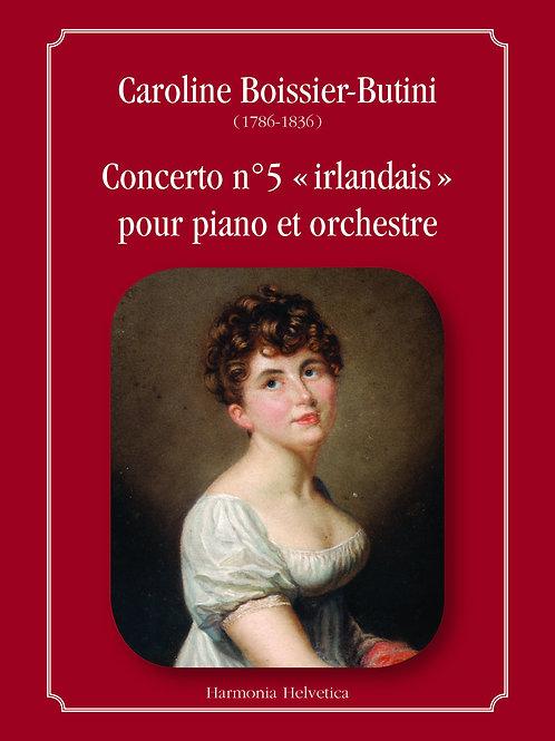 Ouvrage + Partition: 5e concerto pour piano et orchestre de Caroline Boissier