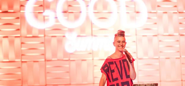 Kate Shela, 5Rhythms Dance Teacher, leading an evening experience