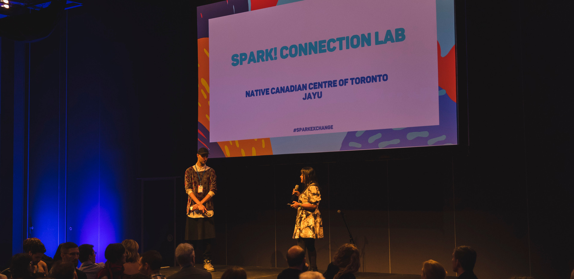 Our amazing hosts introducing the connection lab