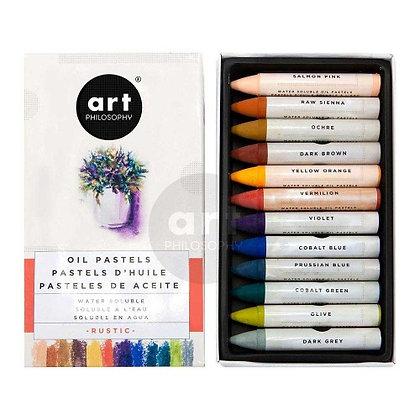 Oil Pastels Art Philosophy Rustic - Óleo pastel