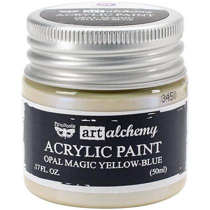 Acrylic paint Opal magic - Yellow-blue