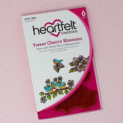 Sello Tweet Cherry Blossoms