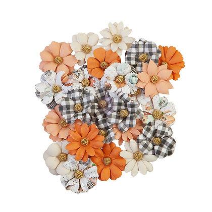Pumpkin & Spice Collection - Warm Mittens- Flores de papel