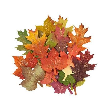 Pumpkin & Spice Collection - Fall leaves- Flores de papel