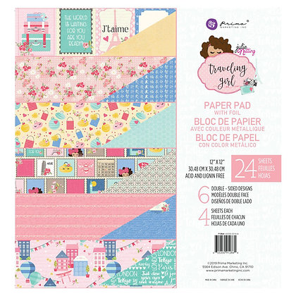 Traveling girl - Block 12 x 12