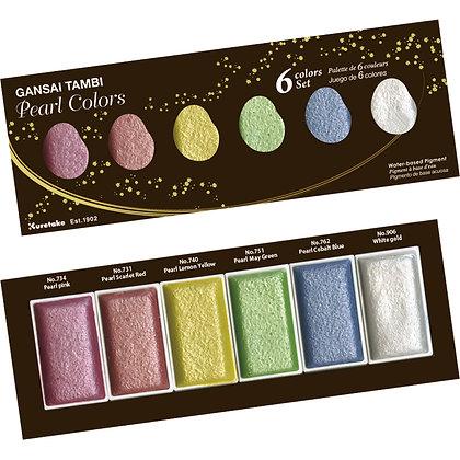 Acuarela metálica Gansai Tambi Pearl Colors