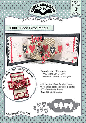 Heart pivot panels pop-up - Sistema de troqueles Paneles de corazones