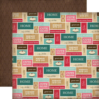 Hoja 12 x 12 - Home sweet home - Kitchen labels