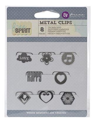 Metal clips - Free spirit