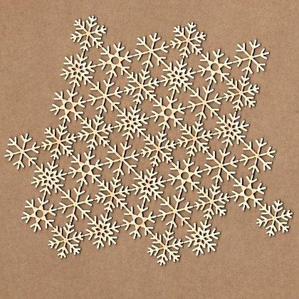 Chipboard - Fondo copos de nieve