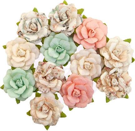 Flores de Prima 1 - Flores de papel
