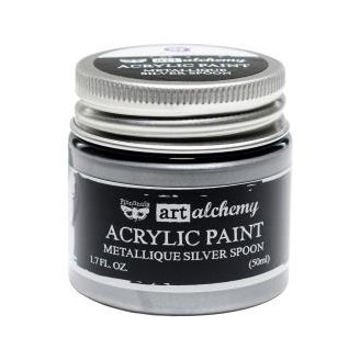 Acrylic paint Metallique - Silver spoon