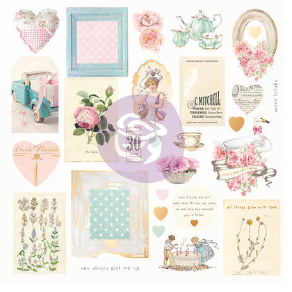 Chipboard - With love Collection Ephemera