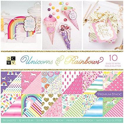 Unicorn Rainbows - Block 12 x 12