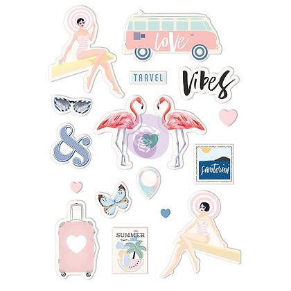 Santorini - Puffy stickers