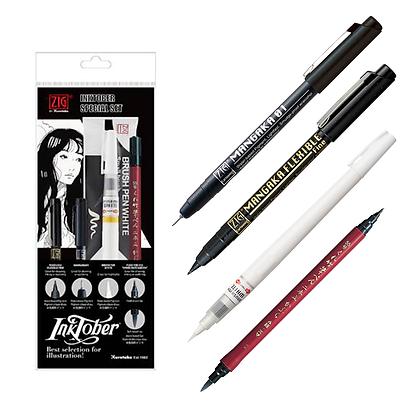 ZIG Inktober Special Set - Marcadores para ilustración