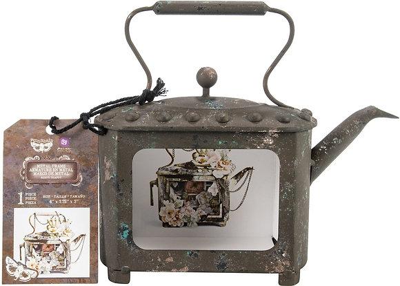 Metal frame - Rusty teapot - Tetera de metal para decorar