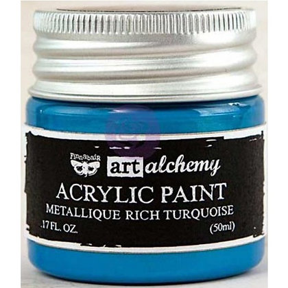 Acrylic paint Metallique - Rich turquoise
