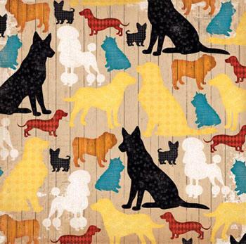 Hoja 12 x 12 - Happy tails - Ruff life
