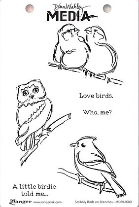 Sellos Scribbly Birds on Branches