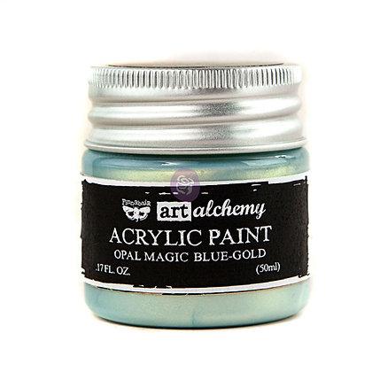 Acrylic paint Opal magic - Blue-gold