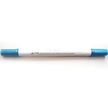 Calligraphy Metallic Dual-Tip Marker Azul - Rotulador punta doble