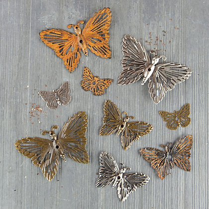 Grungy butterflies - Mariposas herrumbrosas