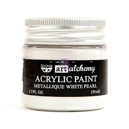 Acrylic paint Metallique - White pearl