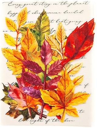 Hojas de otoño - Flores de papel