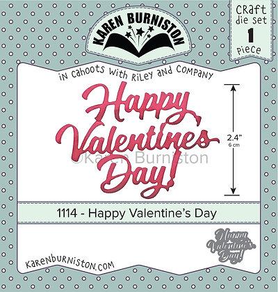 Happy Valentine Day - Troquel Feliz San Valentín