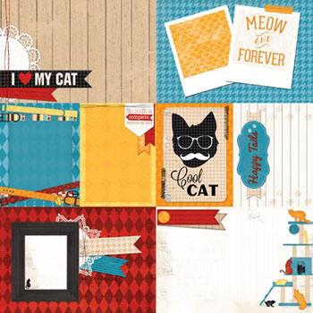Hoja 12 x 12 - Happy tails - Cat Nap