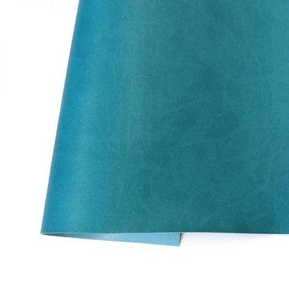 Ecopiel mate - Azul turquesa