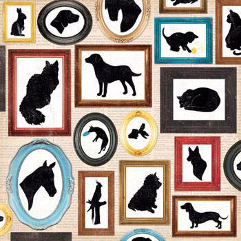 Hoja 12 x 12 - Happy tails - Menagerie