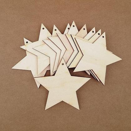 Chipboard - Tag de madera estrella