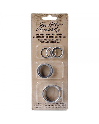 Variedad de anillos de prensa de etiquetas