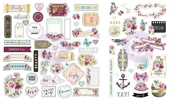 Recortables - Ephemera and stickers - Misty Rose
