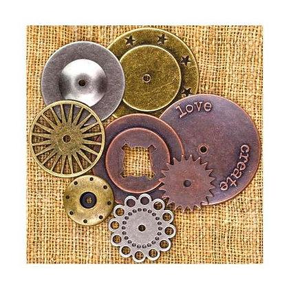 Vintage Mechanicals Metal Trinkets - Washers 1