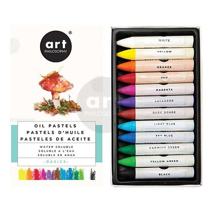 Oil Pastels Art Philosophy Basic - Óleo pastel