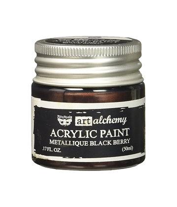 Acrylic paint Metallique - Black berry