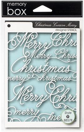 Stencil - Christmas Cursive Merry
