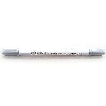 Calligraphy Metallic Dual-Tip Marker Plata - Rotulador punta doble