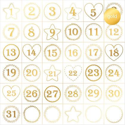 Acetato foil - Advent calendar
