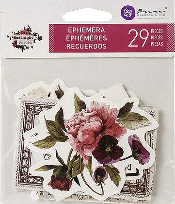 Recortables - Ephemera and stickers - Midnight garden