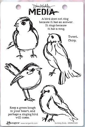 Sellos Scribbly birds