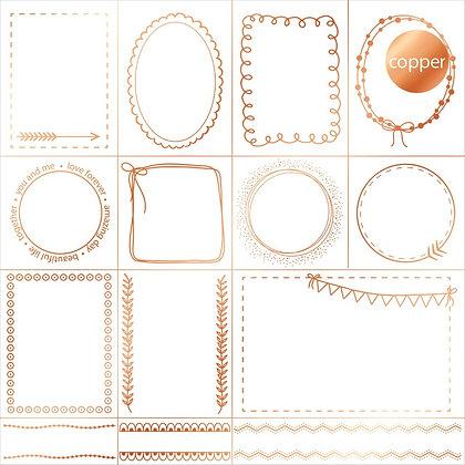 Acetato foil - Doodle Frames