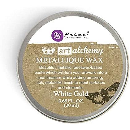 Metallique Wax - Cera metálica White gold