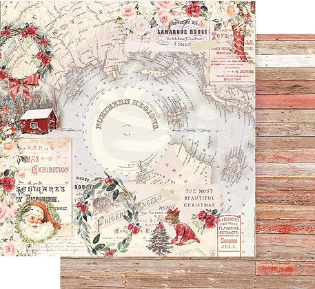 Hoja 12 x 12 - Christmas in the country Collection - Northem regions
