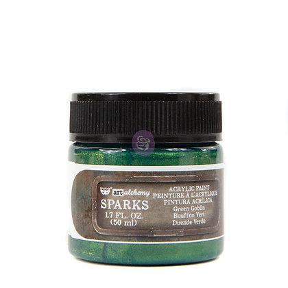 Acrylic paint Sparks - Green globin
